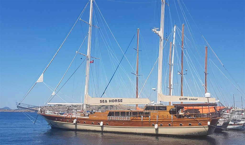 """Motor Sailer """"SEAHORSE"""" available for charter 2017 – 2018 in Turkish and Hellenic waters"""