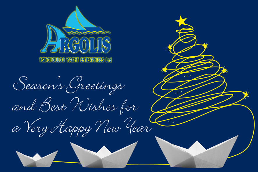 Season's Greetings and Best Wishes for a Very Happy New Year from Argolis Yacht