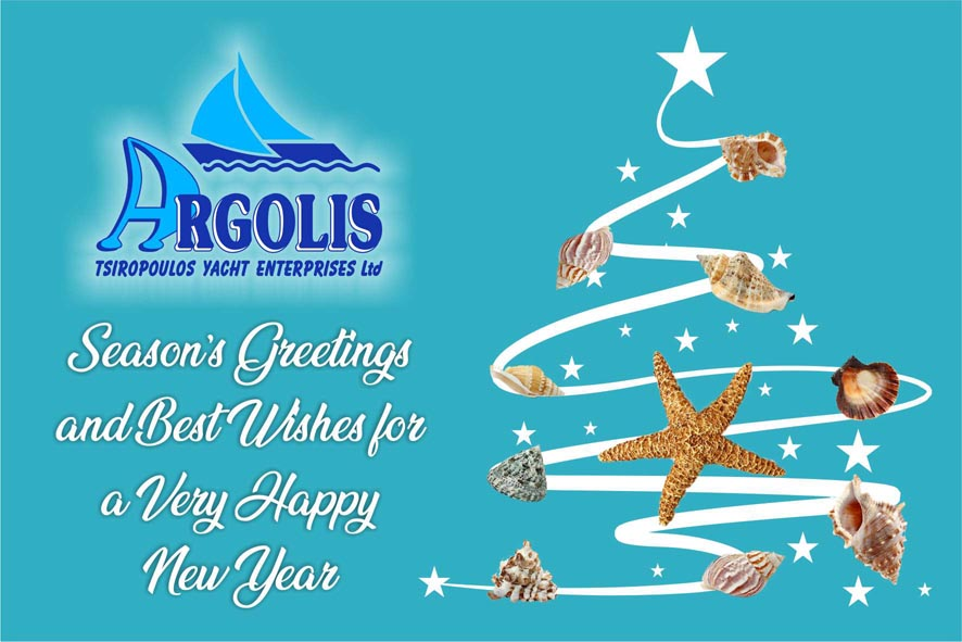 Season's Greetings and Best Wishes for a Very Happy New Year 2019 from Argolis Yacht